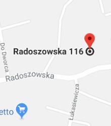 Google Map of Ruda Śląska, ul. Radoszowska 116